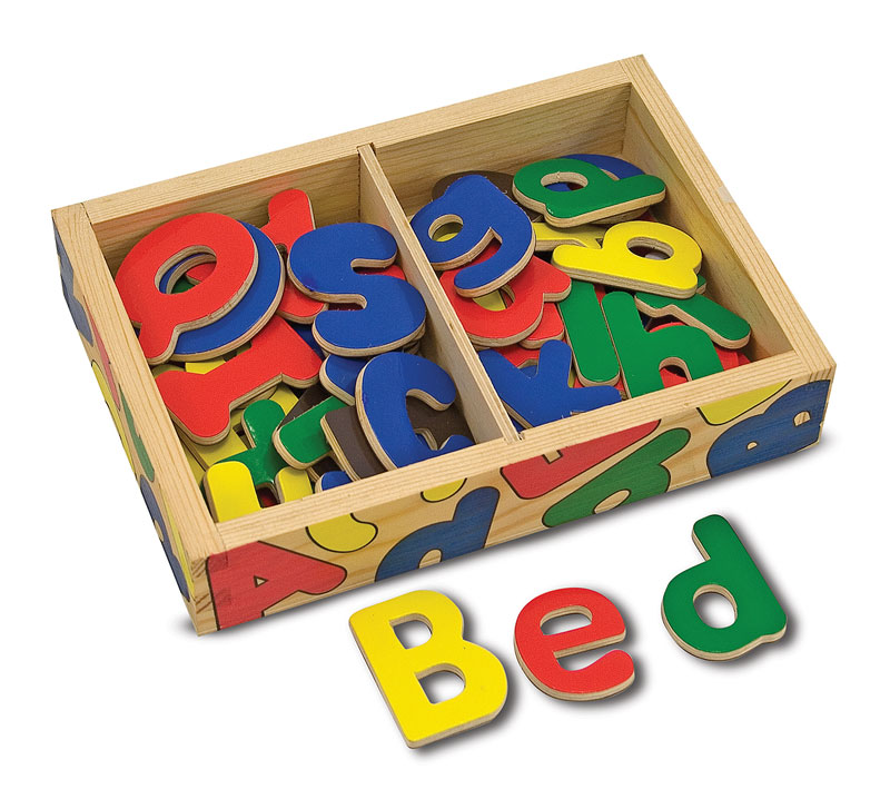 Magnetic Wooden Alphabet Educational Children's Puzzles