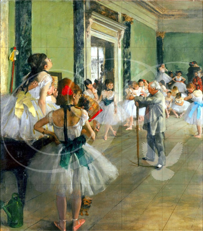 Ballet Class Impressionism Wooden Jigsaw Puzzle