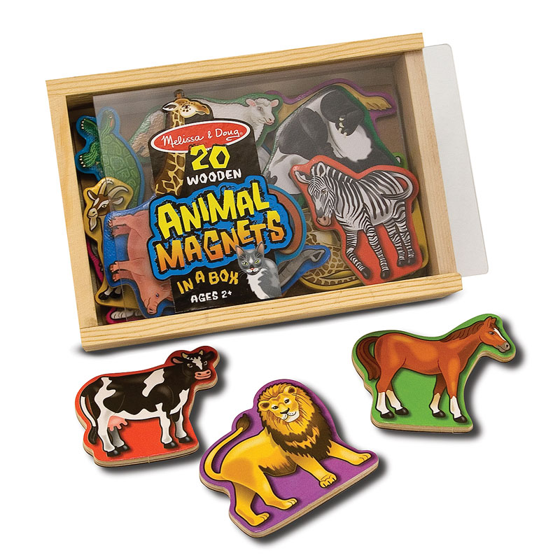 Magnetic Wooden Animals Lions Children's Puzzles