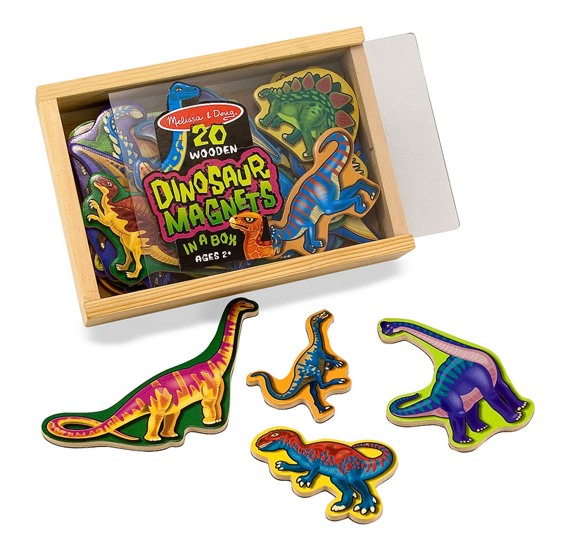 Magnetic Wooden Dinosaurs Dinosaurs