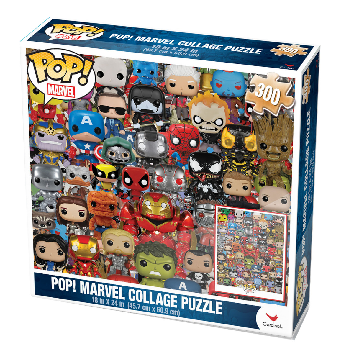 Pop Marvel Collage Puzzle 1000 Pieces Cardinal Ind Puzzle Warehouse