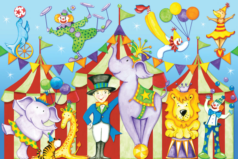 Day at the Circus Lions Floor Puzzle