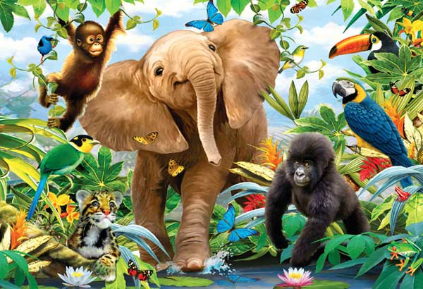 Jungle Juniors Jungle Animals Jigsaw Puzzle