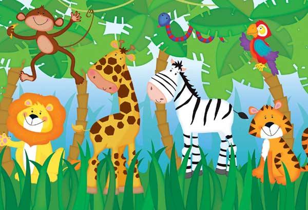 Jungle Party - Floor Puzzle Jungle Animals Floor Puzzle