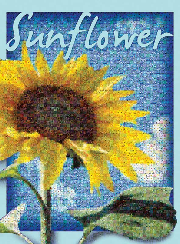 Sunflower Mosaic Flowers Jigsaw Puzzle