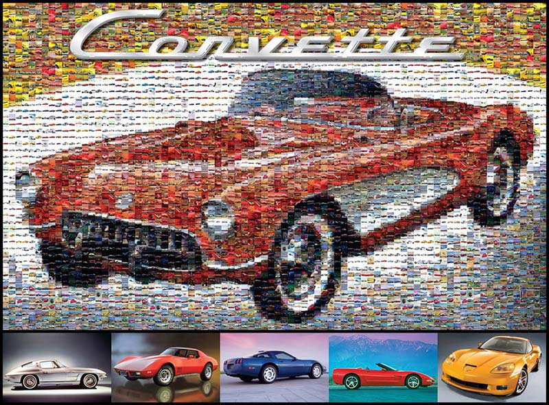 Classic Corvette Mosaic Cars Photomosaic