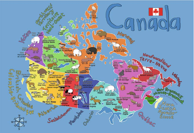 Canada Map Childrens Puzzles PuzzleWarehousecom - Canada map