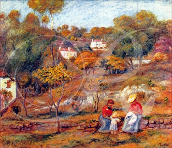 Landscape at Cagnes Landscape Wooden Jigsaw Puzzle
