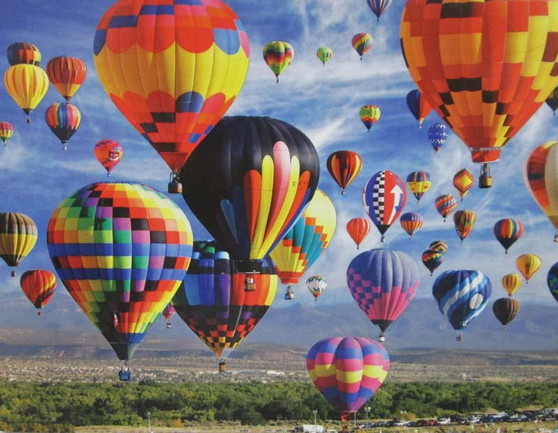 Colorful Hot Air Balloon Fiesta Balloons Galore Jigsaw