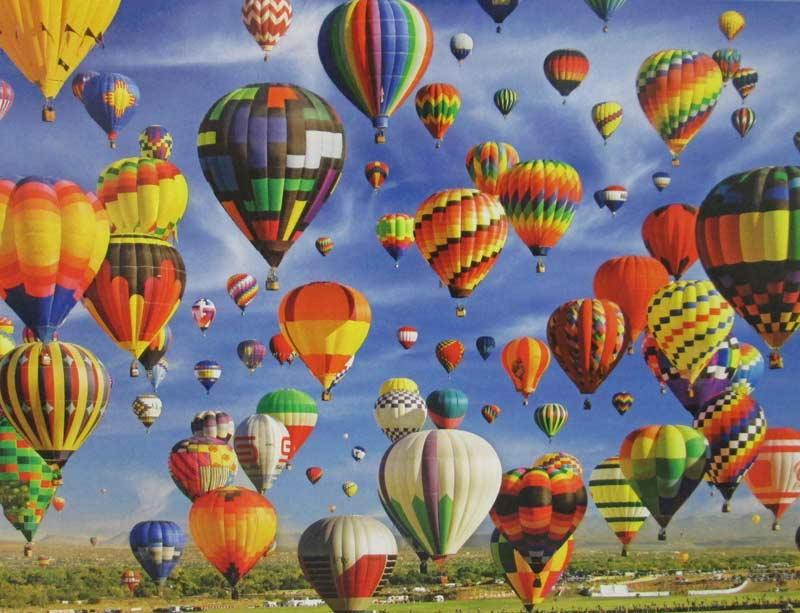 Hot Air Balloon Mass Ascension, Albuquerque (Colorluxe 1000) Balloons Jigsaw Puzzle