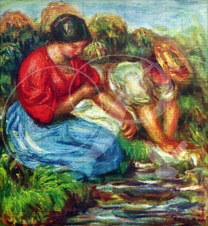 Laundresses Impressionism Wooden Jigsaw Puzzle