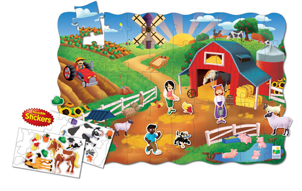 Puzzle Doubles Create A Scene Farm Farm Children's Puzzles
