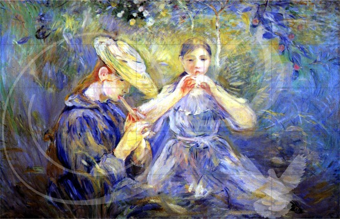 Little Flute Players Impressionism Wooden Jigsaw Puzzle