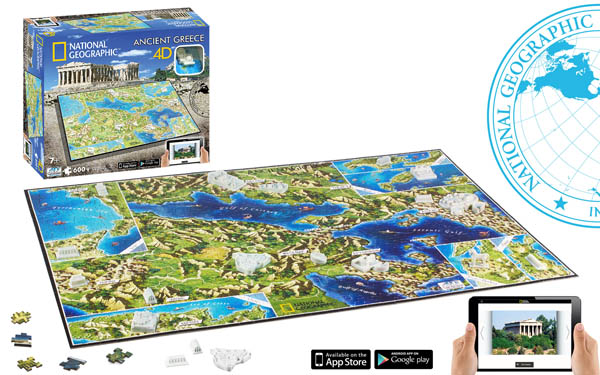 Ancient Greece Landmarks / Monuments 4D Puzzle