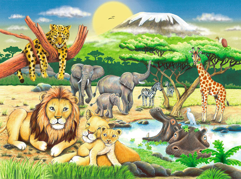 African Animals - Scratch and Dent Jungle Animals Jigsaw Puzzle