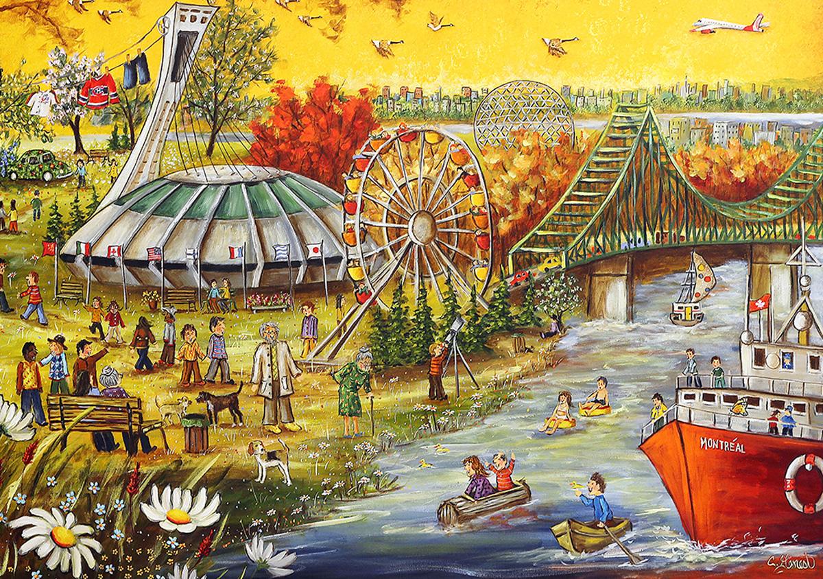 Happy Birthday Montreal Fall Jigsaw Puzzle
