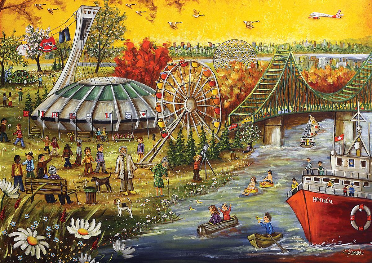 Montreal Cartoons Jigsaw Puzzle