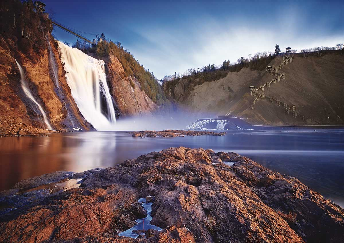 Chutes Montmorency Photography Jigsaw Puzzle