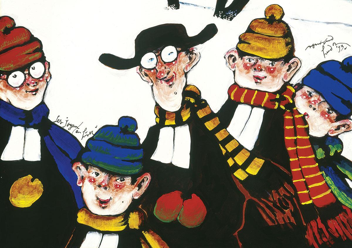 N.Hudon Les Joyeux Cartoons Jigsaw Puzzle