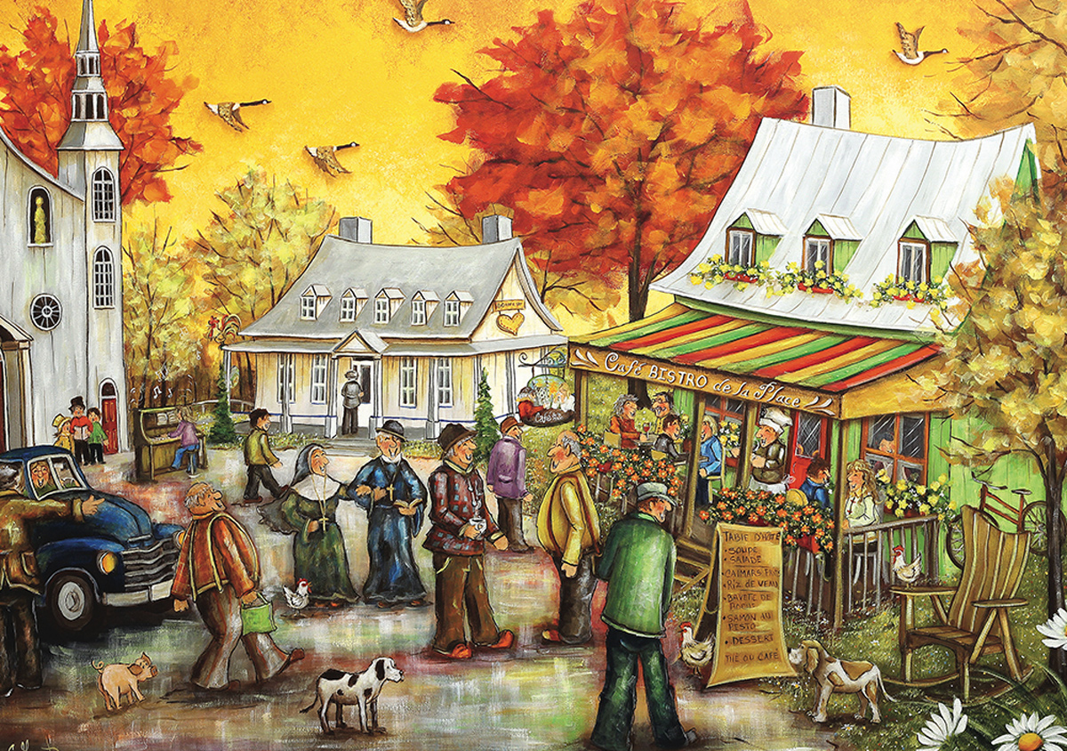 Cafe Bistro Fall Jigsaw Puzzle