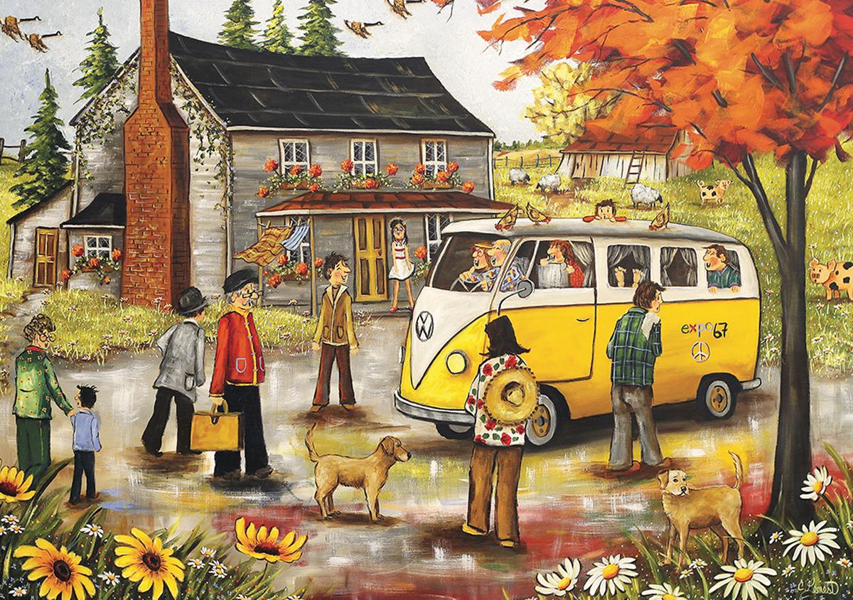 Expo67 Souvenir Vehicles Jigsaw Puzzle