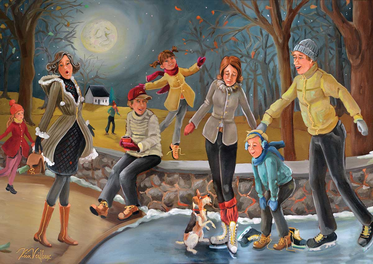Night Outing Winter Jigsaw Puzzle