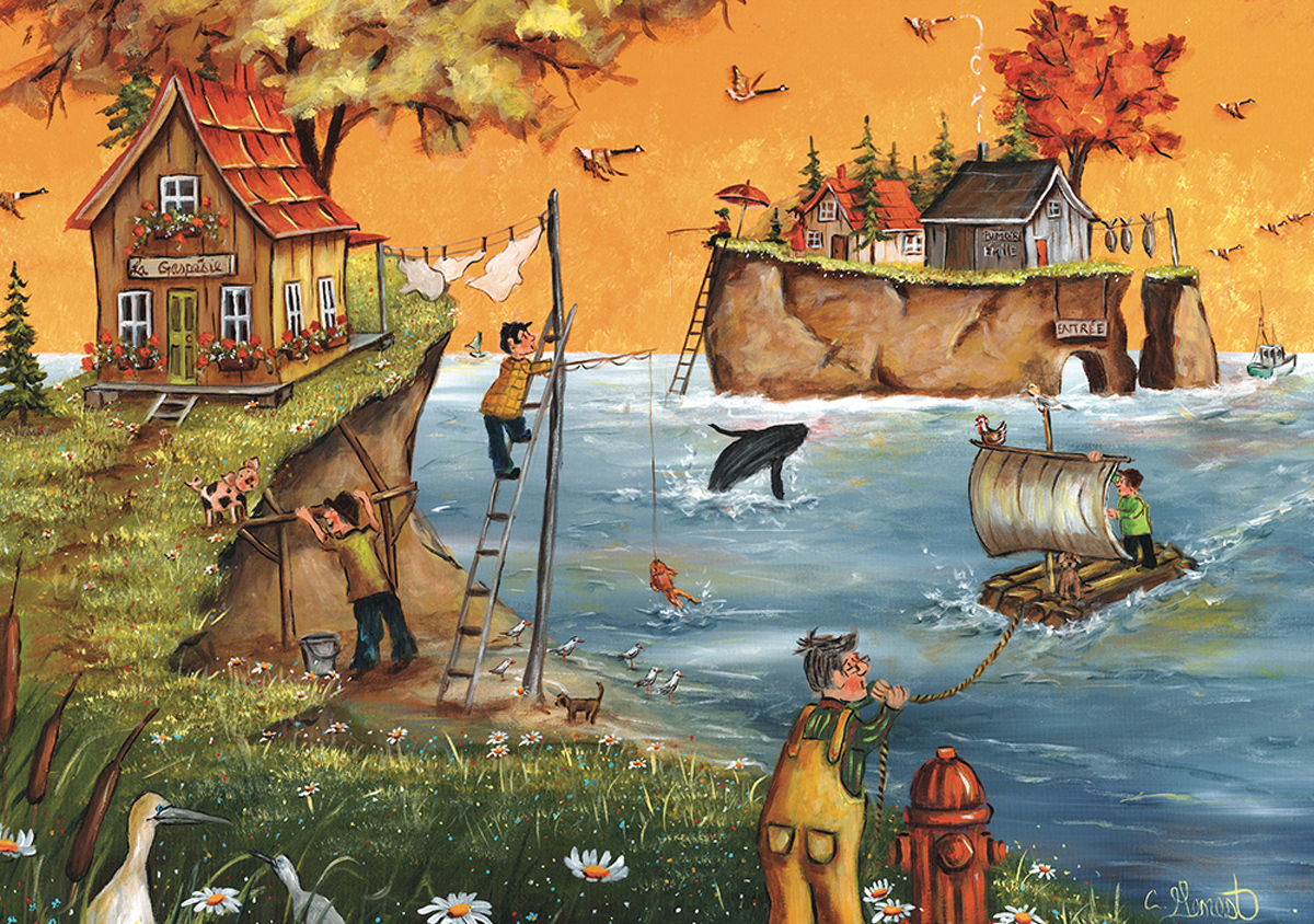 Autumn in Gaspe People Jigsaw Puzzle