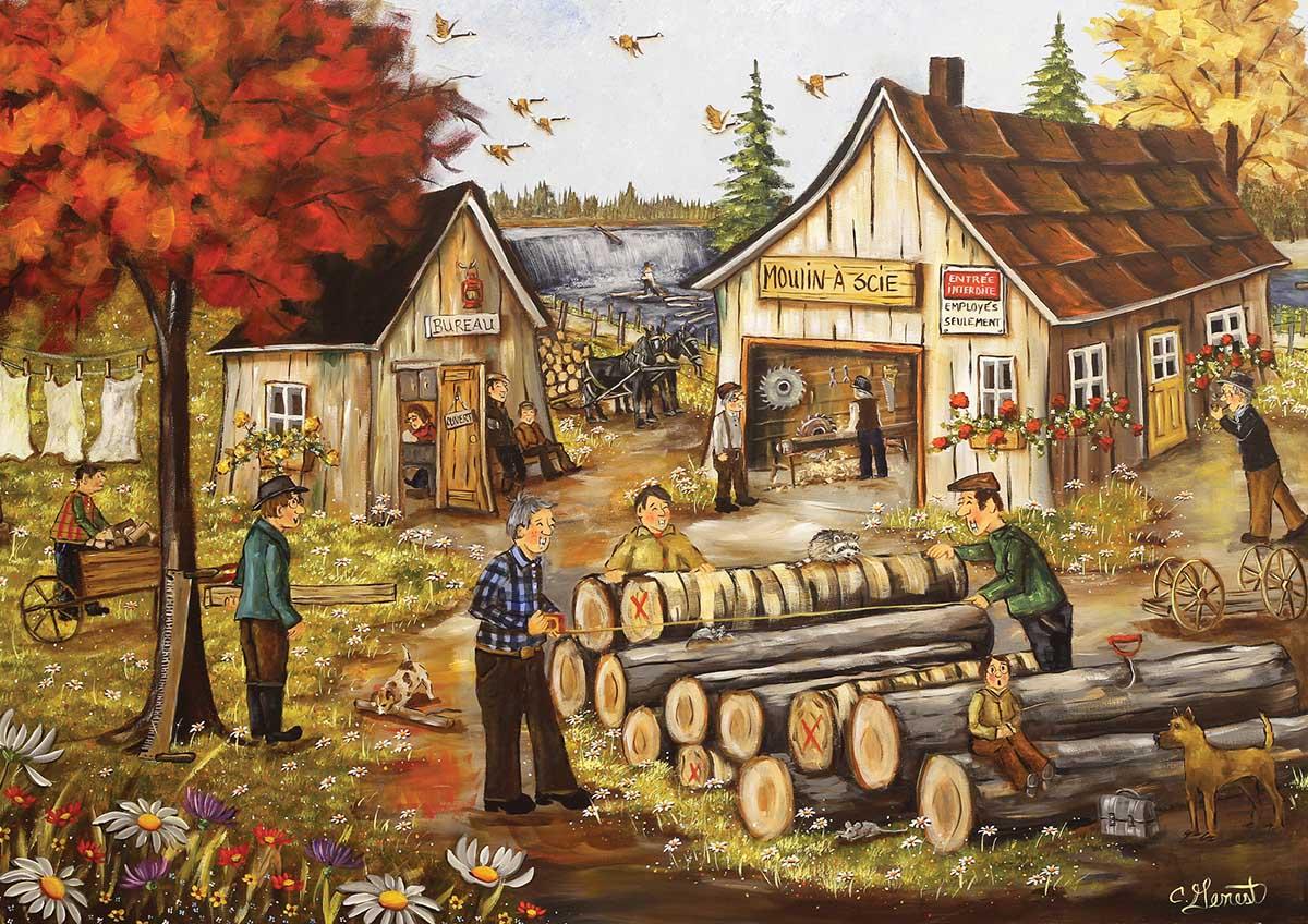 Sawmill Countryside Jigsaw Puzzle