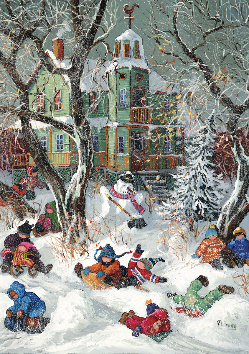 We Risk Collision - Scratch and Dent Winter Jigsaw Puzzle