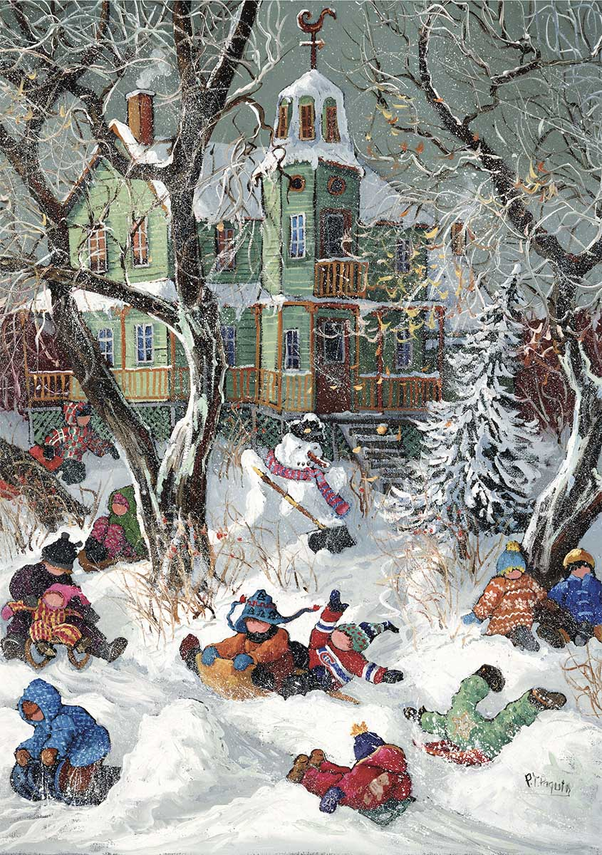 We Risk Collision Winter Jigsaw Puzzle