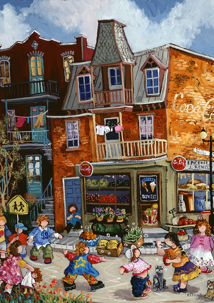 The Grocery Store Street Scene Jigsaw Puzzle