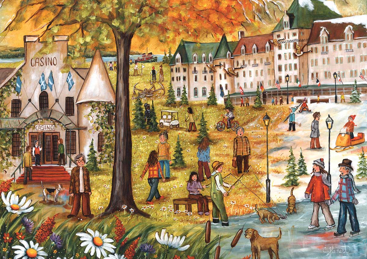 Manoir Richelieu People Jigsaw Puzzle