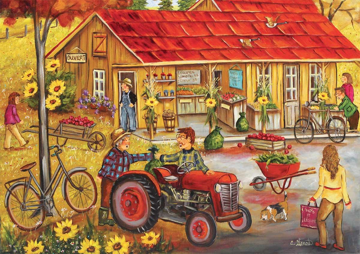 At Granny's Farm Jigsaw Puzzle