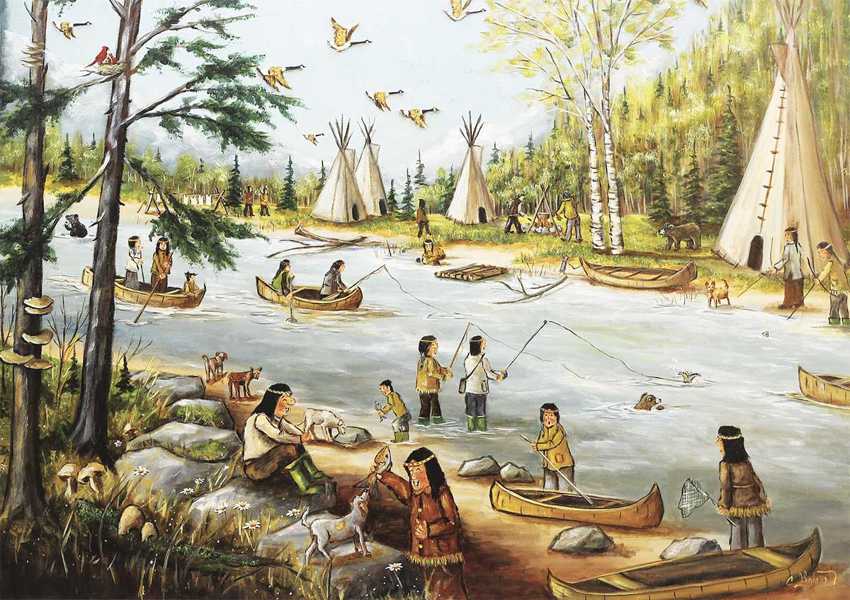 He's Laughing Native American Jigsaw Puzzle