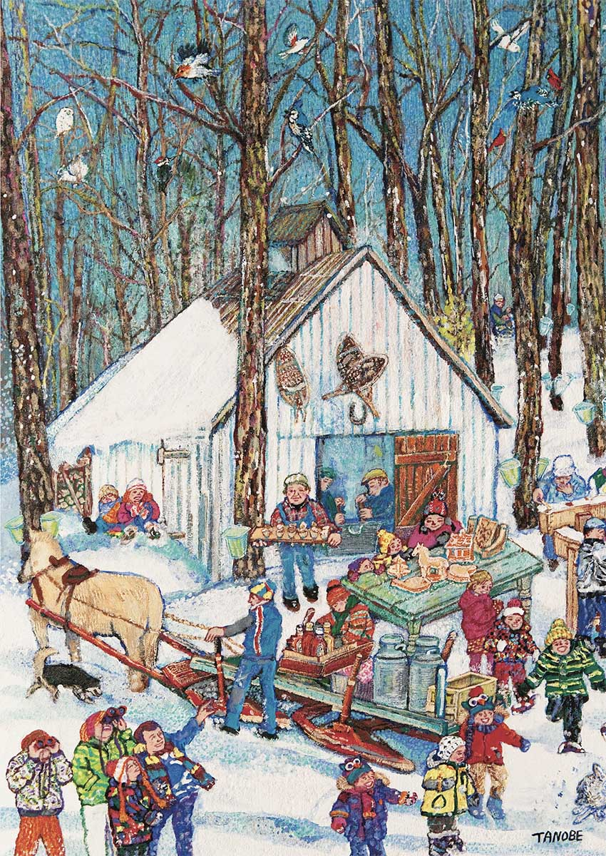 Sugar Shack Winter Jigsaw Puzzle