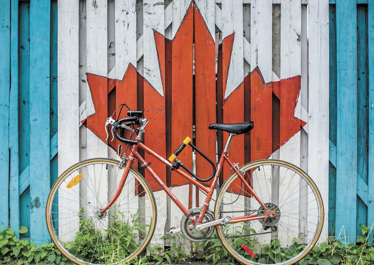 Cycling Canada Canada Jigsaw Puzzle