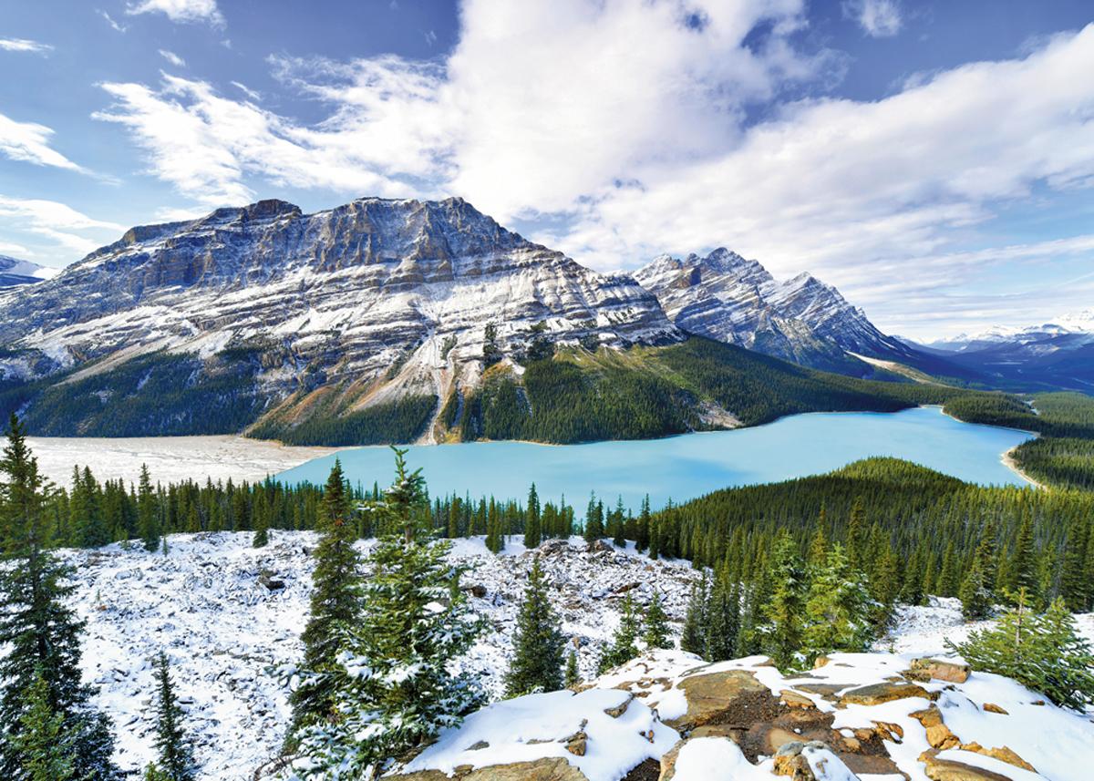 Alberta Peyto Lake Mountains Jigsaw Puzzle