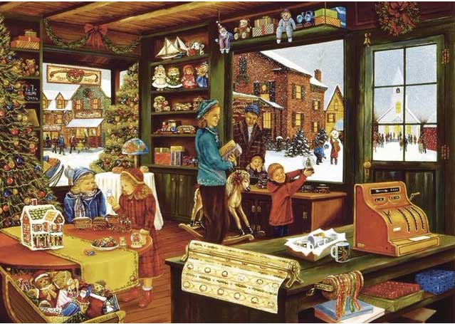 General Store Winter Jigsaw Puzzle