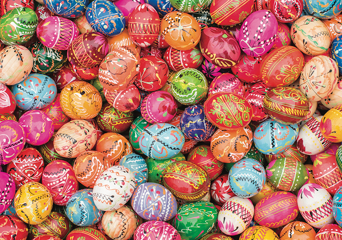 Colorful Eggs Food and Drink Jigsaw Puzzle