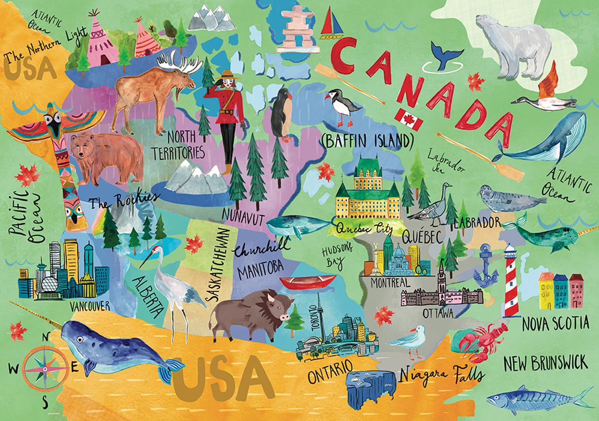 Canada Map Canada Jigsaw Puzzle