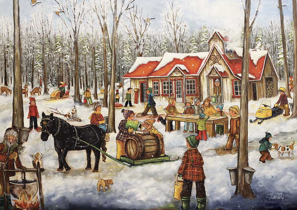 The Log Cabin Winter Jigsaw Puzzle