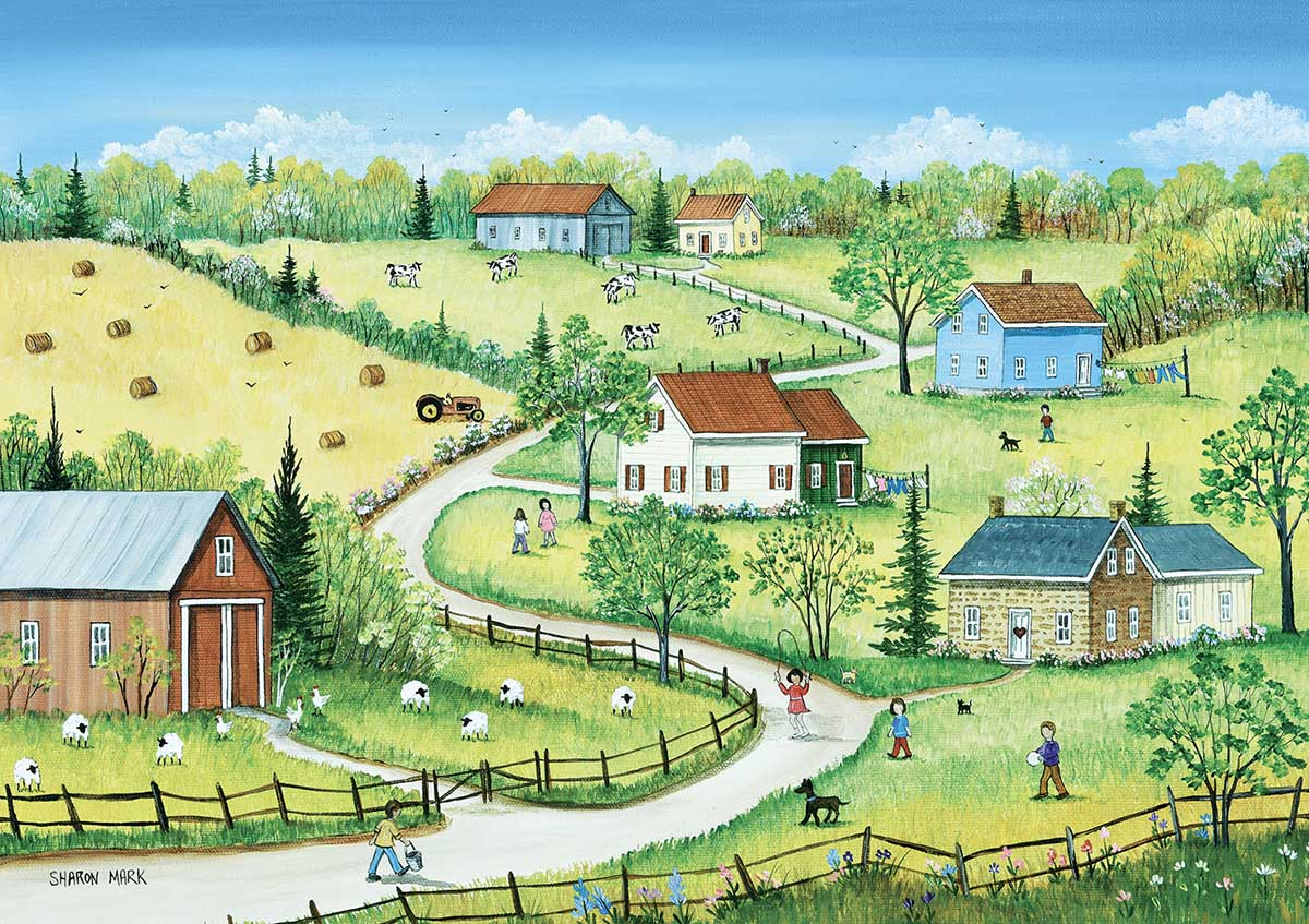 Country Summer Countryside Jigsaw Puzzle