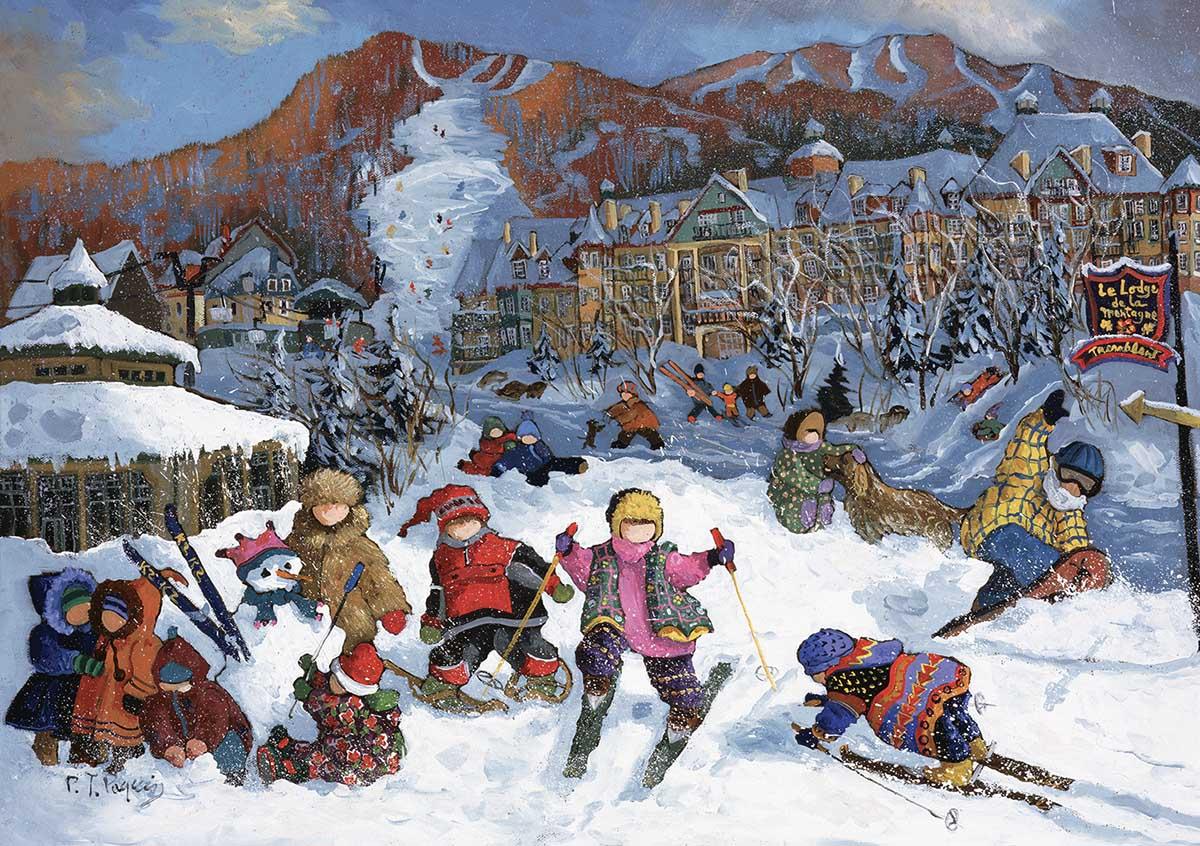 Mountain Lodge Winter Jigsaw Puzzle