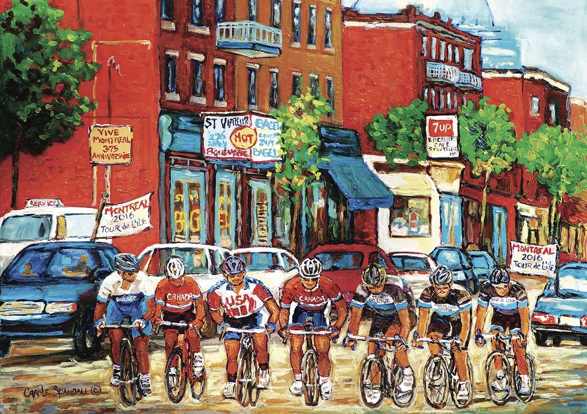 Tour De L'Ile Street Scene Jigsaw Puzzle