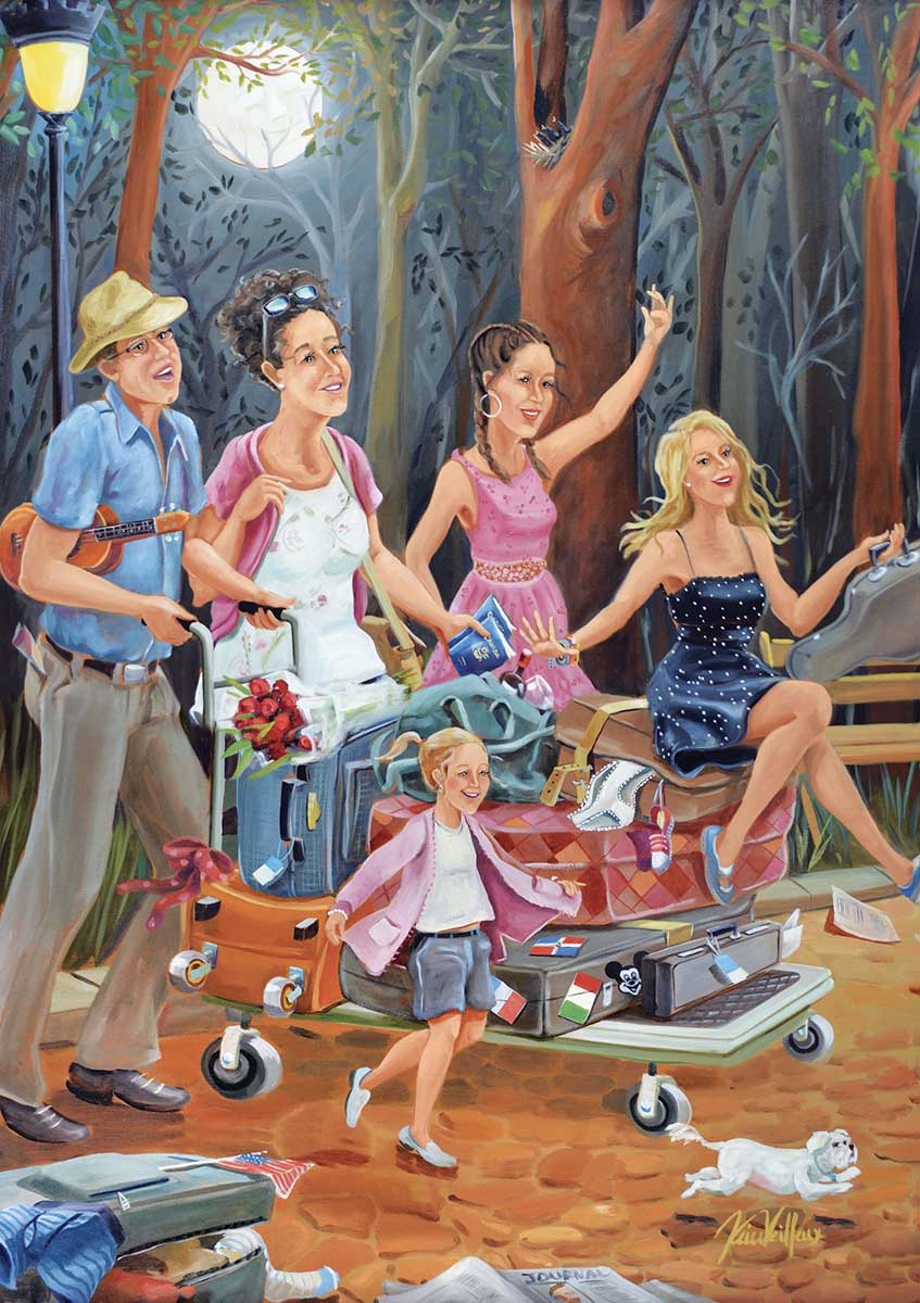Travelling Family People Jigsaw Puzzle