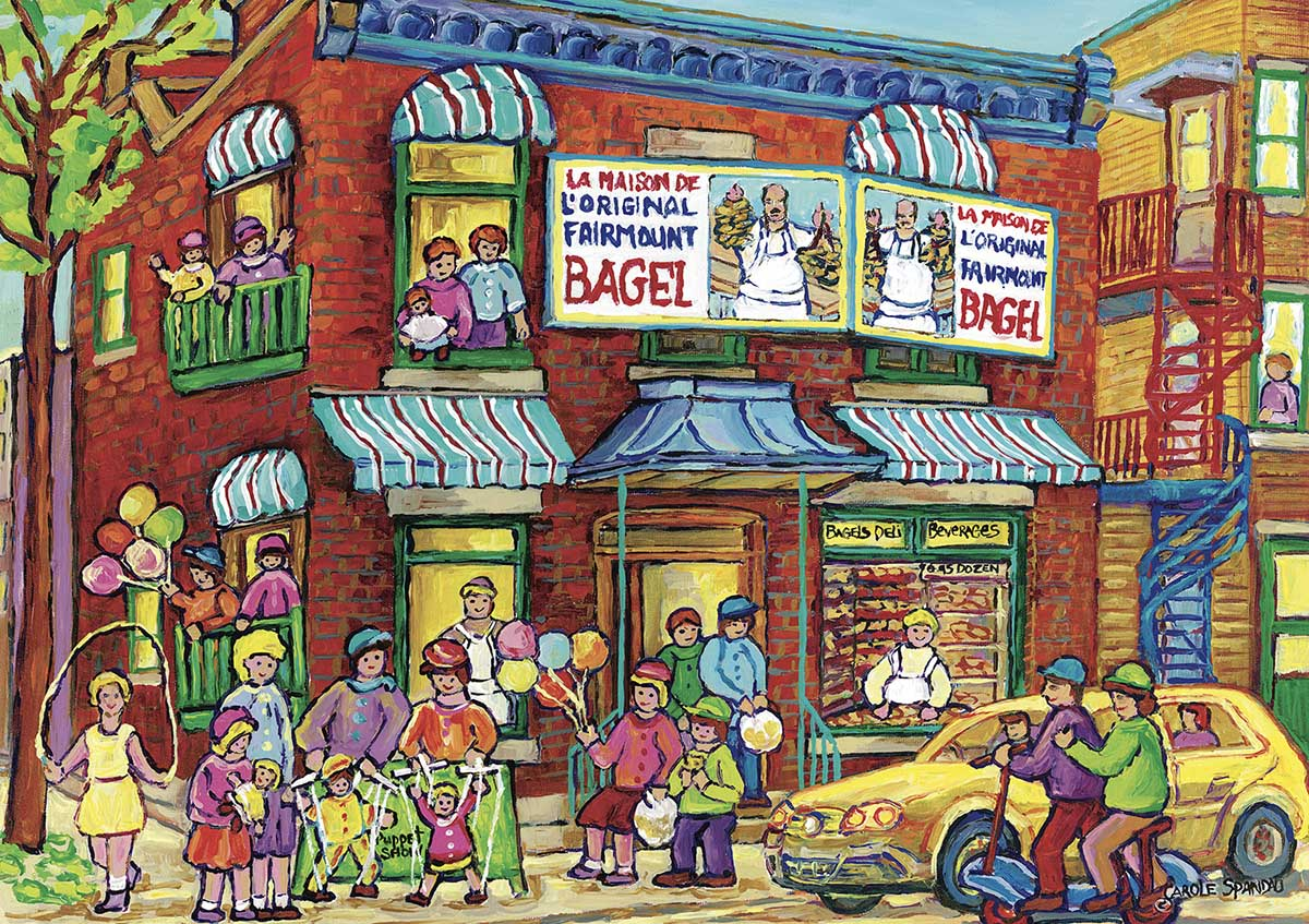 Summer Fun in the Streets Street Scene Jigsaw Puzzle