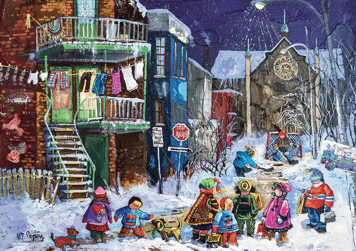 We Are Still Waiting Street Scene Jigsaw Puzzle