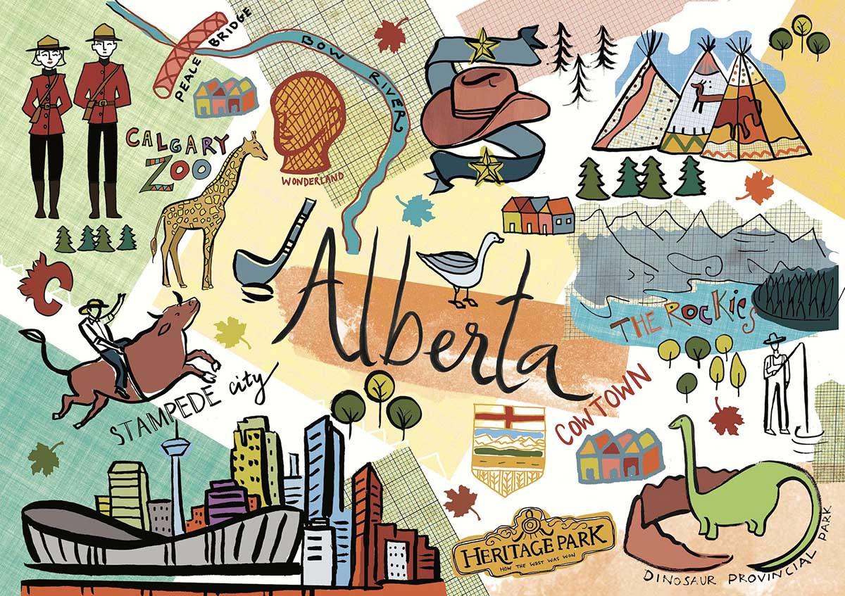 Alberta Maps / Geography Jigsaw Puzzle