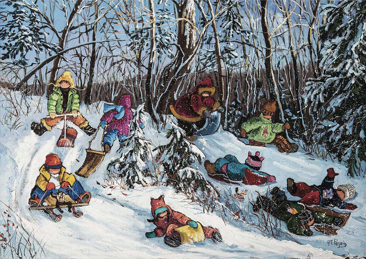 To Each His Path Winter Jigsaw Puzzle