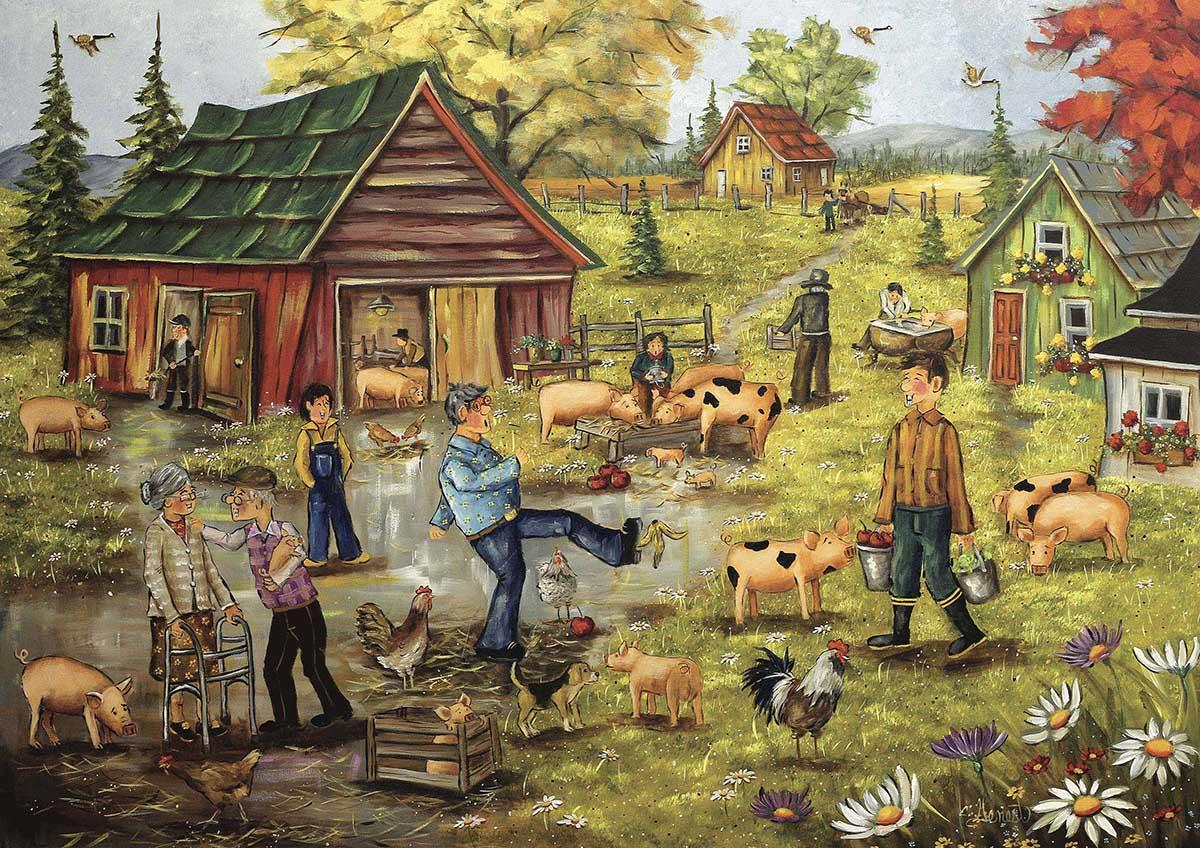 Pig Jig Farm Jigsaw Puzzle